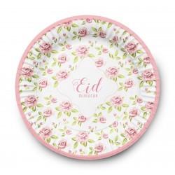 Borden Eid mubarak vintage rose (set van 6)