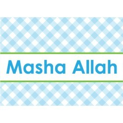 Greeting Card Baby Boy - Masha Allah Blue/Green