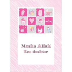 Carte de voeux Naissance fille - Masha Allah Collage