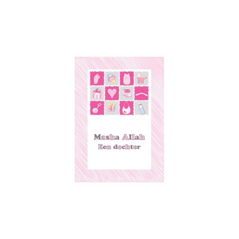 Greeting Card Baby Girl - Masha Allah Collage