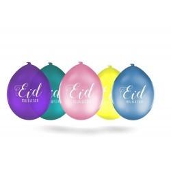 Ballons pastel Eid Mubarak (10 pièces)
