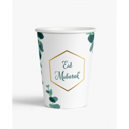 Bekers Eid mubarak Eucalyptus (set van 6)