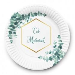 Plates Eid Mubarak Eucalyptus (6pk)