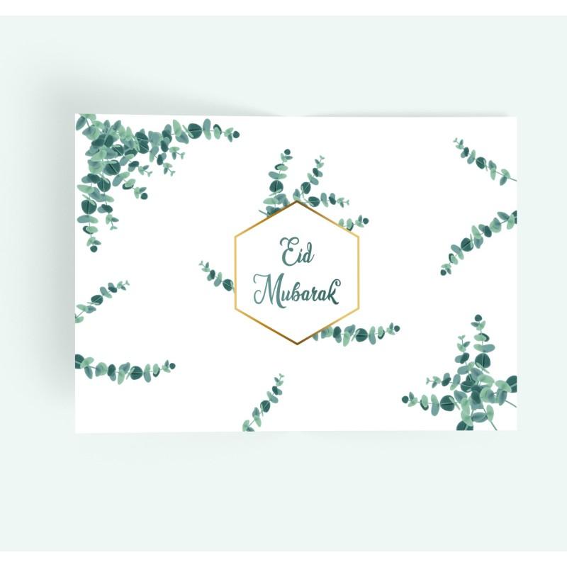 Placemats Eid mubarak Eucalyptus(6pk)