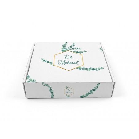 Pastry box Eid mubarak - Eucalyptus