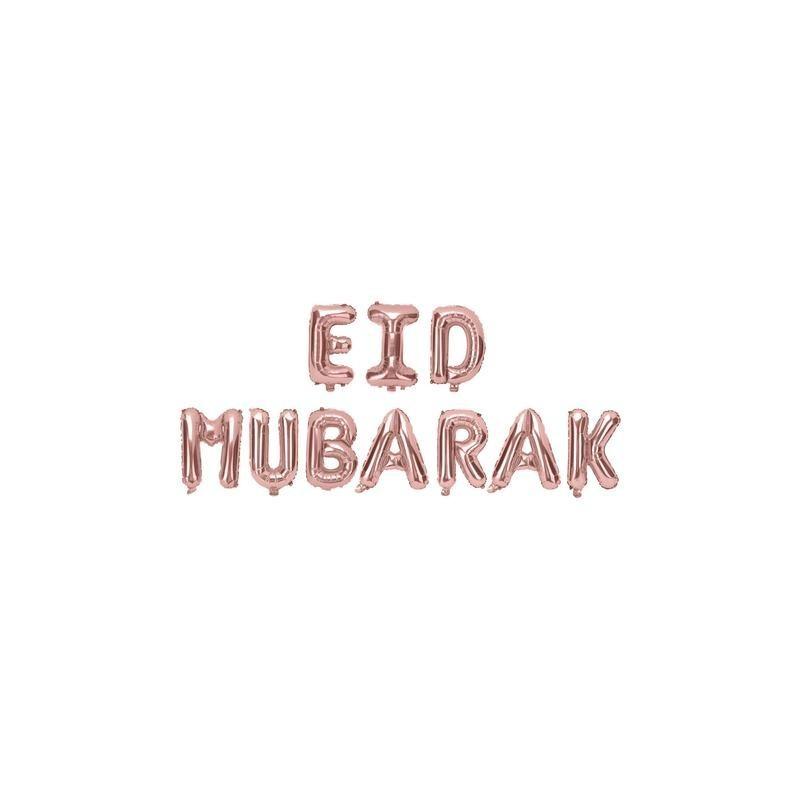 Eid mubarak ballon Rosé goud