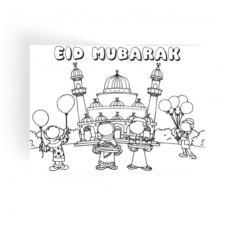 Placemats Eid mubarak pastel (6pk)