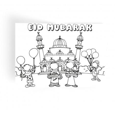 Placemats Eid mubarak pastel (set van 6)