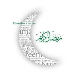 Greeting card 'Ramadan Kareem' - green