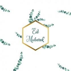 Greeting card Eid Mubarak - Eucalyptus