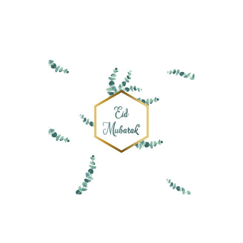 Wenskaart Eid Mubarak - Eucalyptus