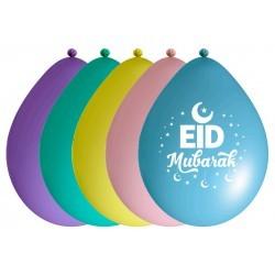 Ballonnen Eid Mubarak pastel (10 stuks)
