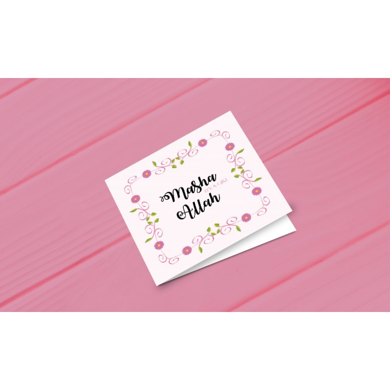 Strange Greeting Card Masha Allah Its A Girl Personalised Birthday Cards Paralily Jamesorg