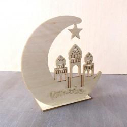 Wooden Eid Mubarak Decoration