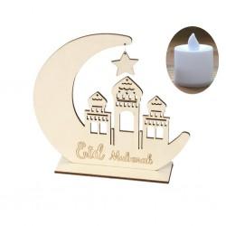 Houten Eid Mubarak Standaard