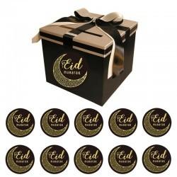 Eid Stickers 20 stuks zwart/goud