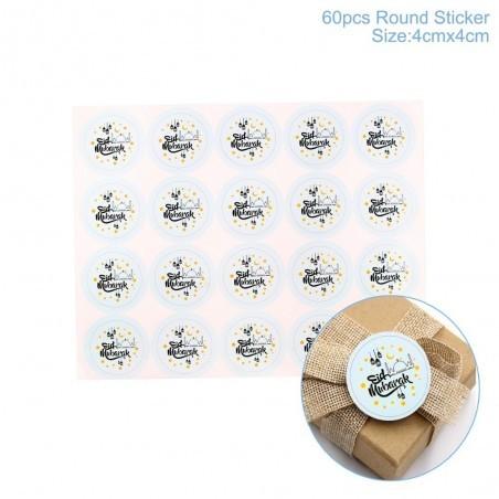 Eid Stickers 20 stuks blauw