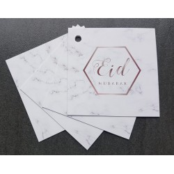 Eid Mubarak Giftcards - Marble (4 Pieces)