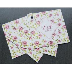 Eid Mubarak cadeaukaartjes - Vintage Rose (4 stuks)