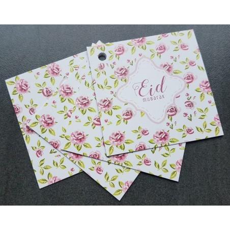 Eid Mubarak giftcards - Vintage Rose (4pcs)