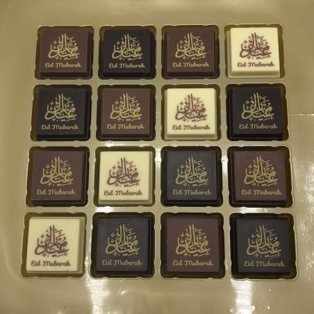 Chocolade bonbons - Eid Mubarak (16 stuks)