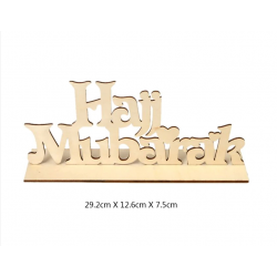Hajj Mubarak TekstBord