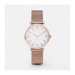 Horloge met Arabische Nummers Rose Goud