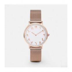 Watch with Arabic Numerals Rose Gold
