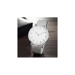 Watch with Arabic Numerals Silver