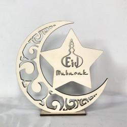 Houten Standaard Eid Mubarak