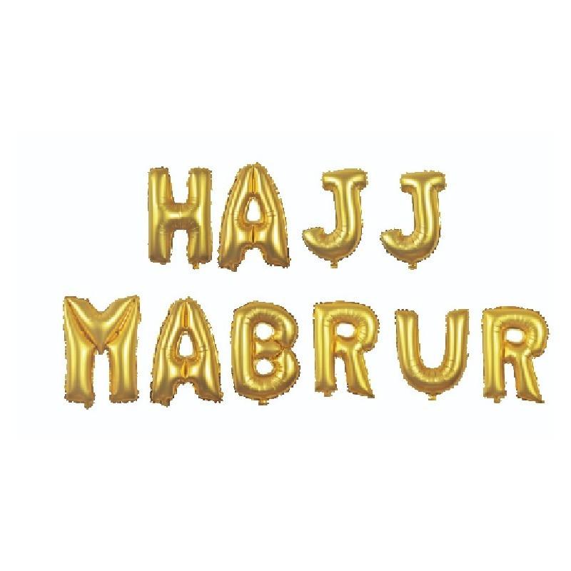 Hajj Mabrur Letter Ballon
