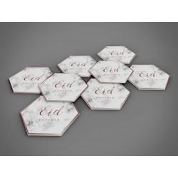 Coasters Eid Mubarak Marmer