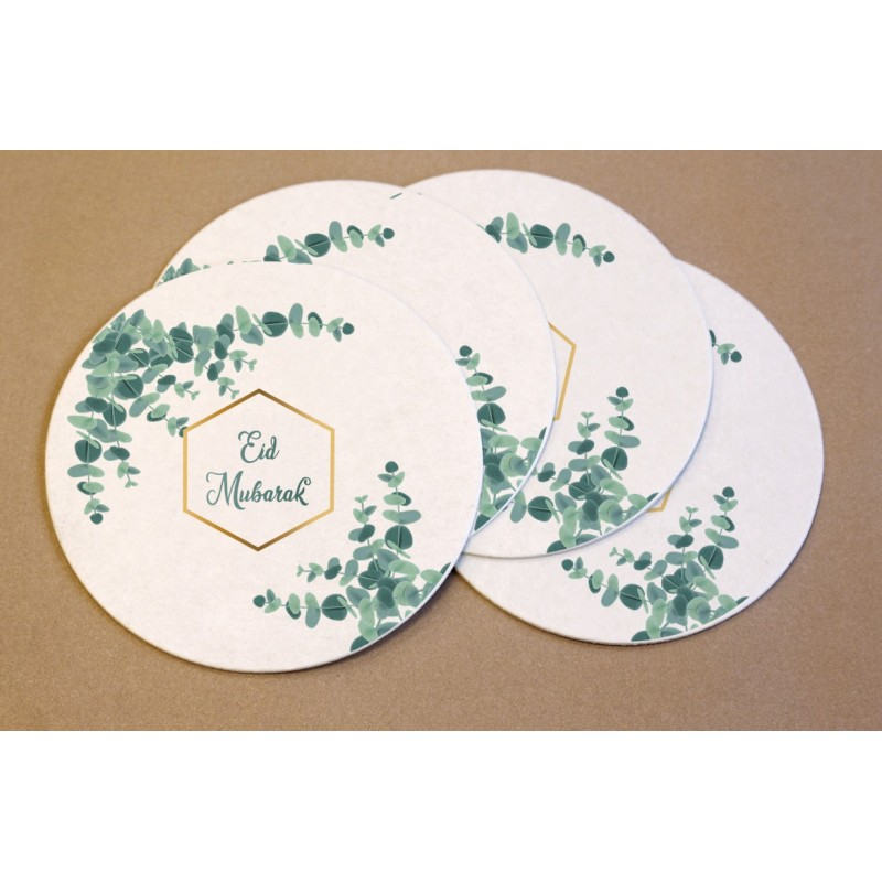 Coasters Eid Mubarak Eucalyptus