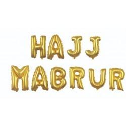 Hajj Mabrur Letters Gold