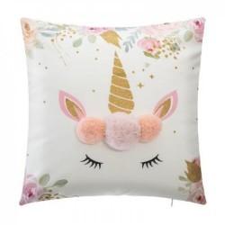 Cushion Unicorn Pompon