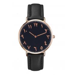 Horloge met Arabische Nummers Zwart