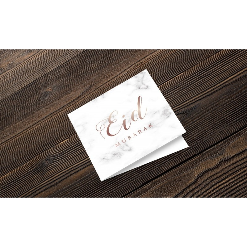 Greeting Card Eid Mubarak Marble
