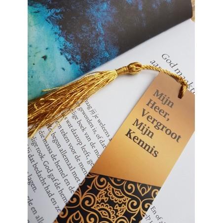 Boekenlegger 'Mijn Heer Vergroot mijn Kennis'
