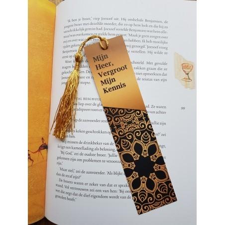 Bookmark 'Mijn Heer Vergroot mijn Kennis' (Dutch)
