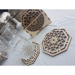 Wooden coasters (6 units)...