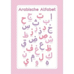 Poster Arabic Letters Pink