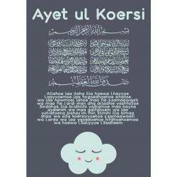 Poster Ayet ul Koersie Blauw