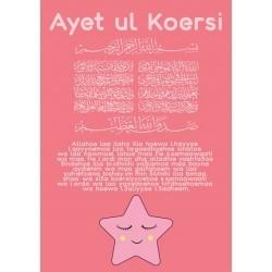 Poster Ayet ul Koersie Roze