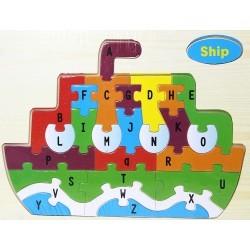 Puzzle lettres arabes - bateau