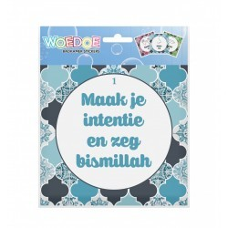Wudu Stickers Blue