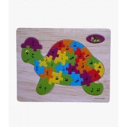 Puzzle Arabic Letters - Turtle