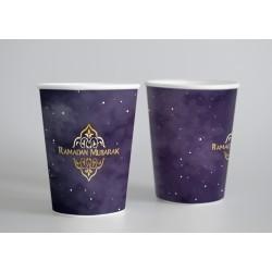 Bekers - Ramadan paars/goud...