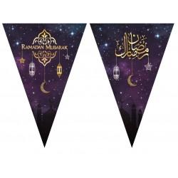 Bunting Ramadan Mubarak Purple