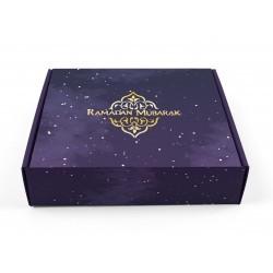 Boîte à gâteaux Ramadan violet / or 2020