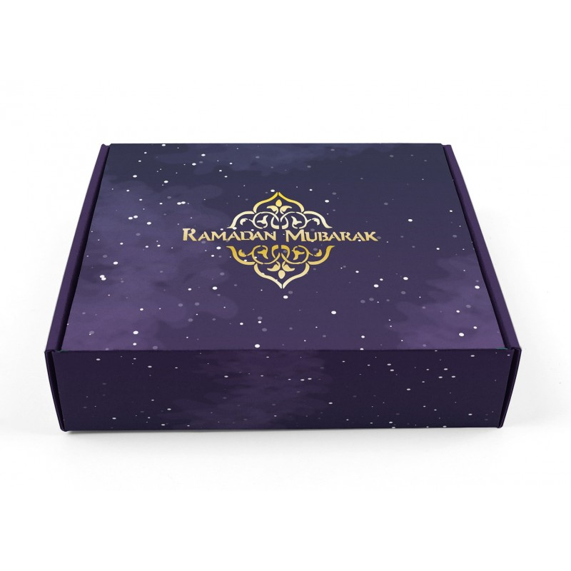 Tortenschachtel Ramadan lila / gold 2020